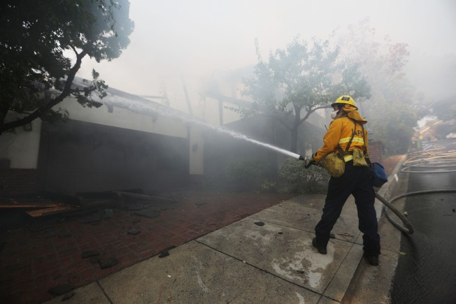 Some Evacuations Still in Place as Skirball Fire Continues to Burn