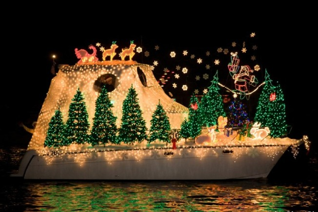 happy 100th newport beach christmas boat parade
