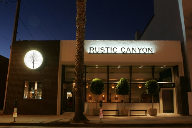 Burger night at Rustic Canyon