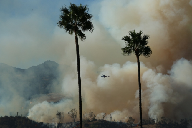 Photos: Smoke Rises From Brush Fire in Griffith Park