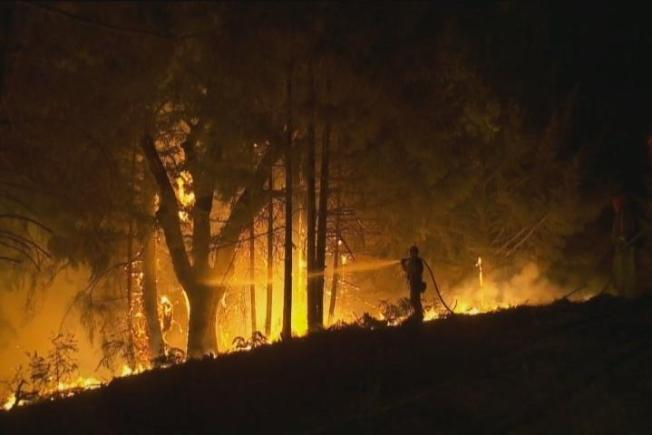 Northern California Wildfires Threaten Homes