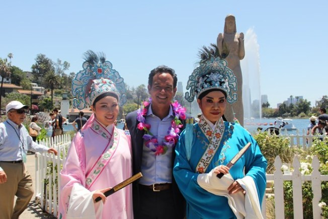 NBC4 Today in LA's Adrian Arambulo Helps Kick Off Lotus Festival
