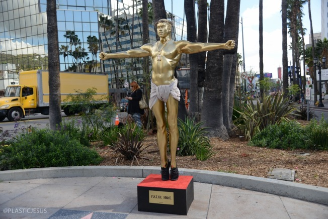 Crucifixion Statue of Kanye West Unveiled on Hollywood Boulevard Ahead of Oscars Weekend