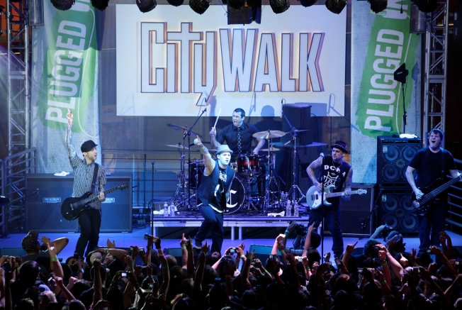Universal CityWalk Debuts New Stage With Good Charlotte