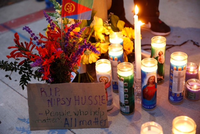 Photos: How Mourners Are Remembering Rapper Nipsey Hussle