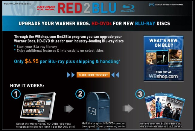 Going All Blu: Exchange Your HD-DVD's for BluRay