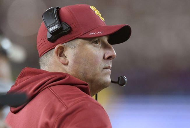 122a8de865e USC Keeping Coach Clay Helton Despite 5-7 Season - NBC Southern ...
