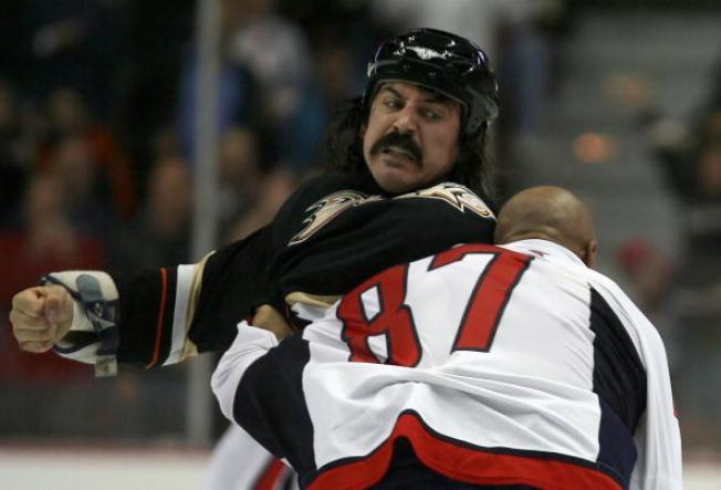 Hockey Tough Guy Takes Swing at Good Cause