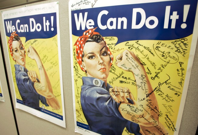 Rosie the Riveter at Home in Long Beach