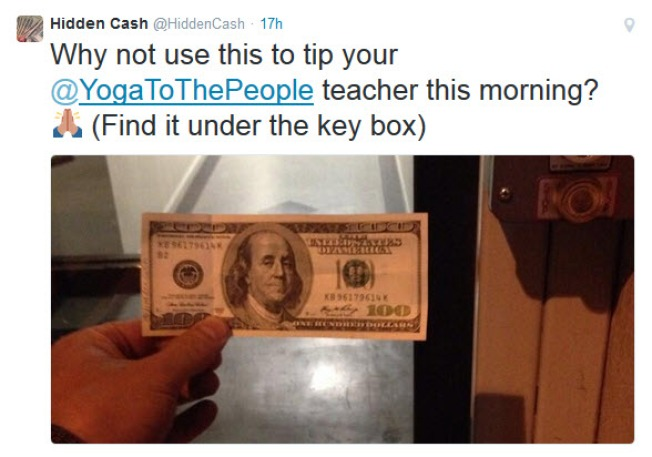"""Hidden Cash"" Using Twitter to Send Out Tips on Finding Money Stashed in Bay Area"