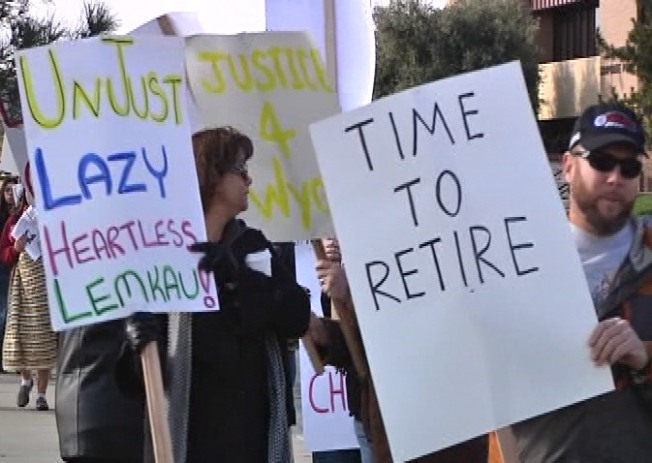 Courthouse Protesters in Victorville Demand Justice