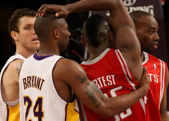 Ron Artest and Kobe Bryant in the Shower
