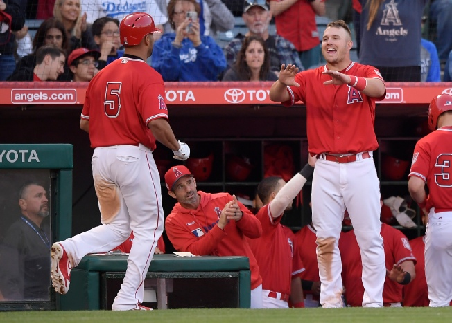 Big Names Deliver In Angels Exhibition Win Over Dodgers Nbc