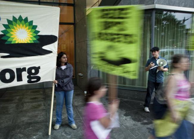 Environmental Activists Stage BP Boycott