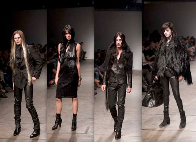 At BOXeight: Michel Berandi's Glamour Goth Show Creates Buzz