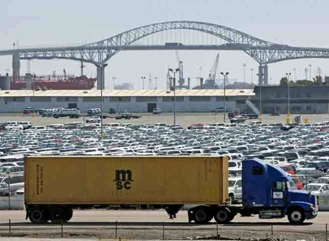 Foreign Cars Pile Up at Port