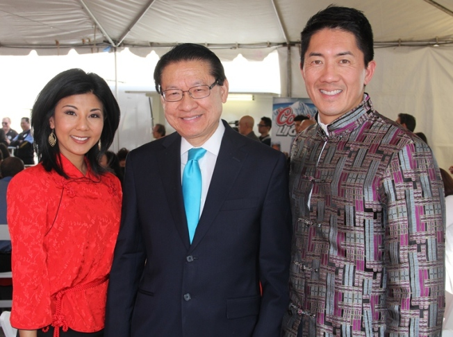 NBC4's Ted Chen and Hetty Chang Participate in the Annual Chinese New Year Golden Dragon Parade