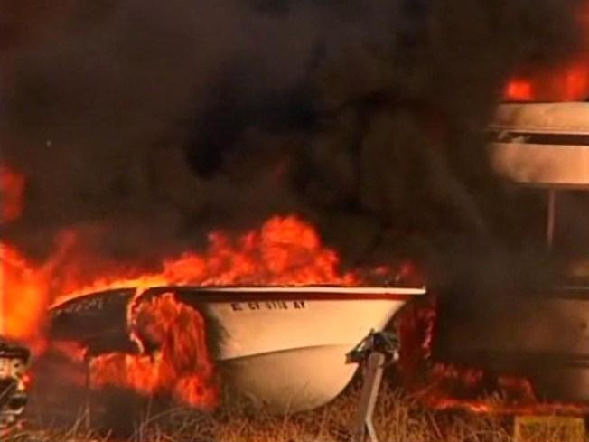 Brush Fire Tears Through Temecula Homes