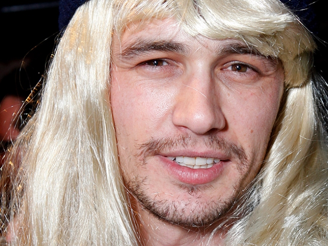 James Franco Wore a Blond Ladies' Wig at Sundance