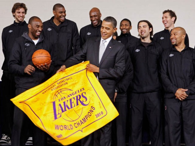 Redux: Lakers Honored by Obama in Washington