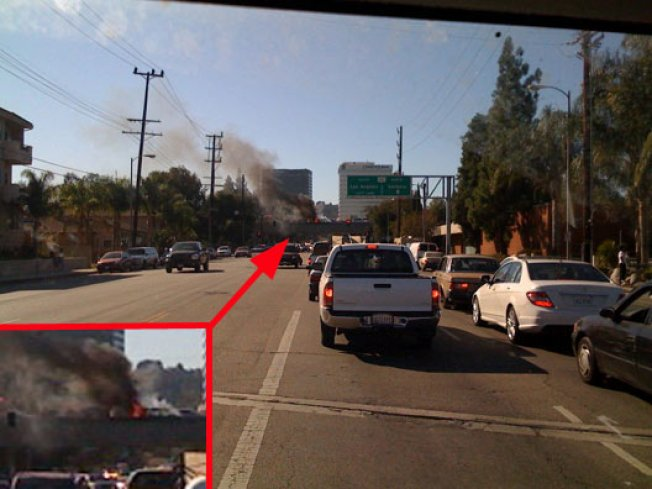 Car Fire on 101: Traffic Nightmare Continues