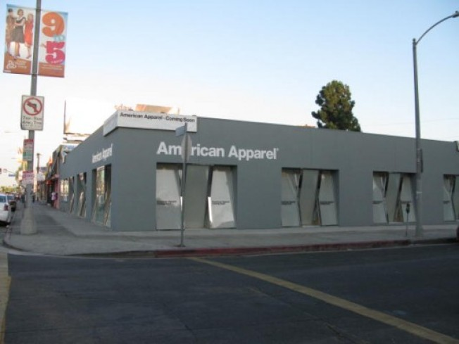 Storecasting: American Apparel Melrose Readying for October Opening