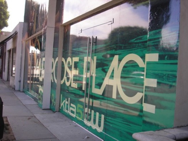 Vacant Stores Act As Canvases for Melrose Place Ad Blitz