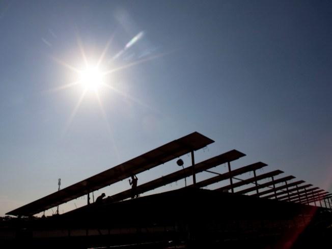 Sun Sets on Solar Farm