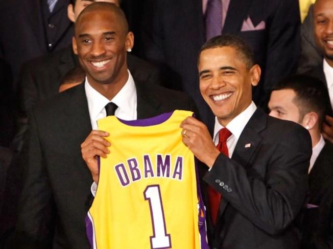 Lakers Meet President Obama