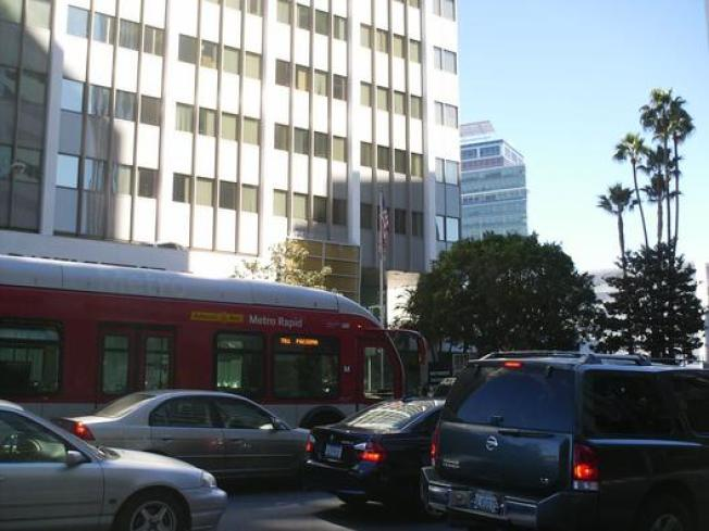 Bus-Only Lanes for Wilshire... in 2011