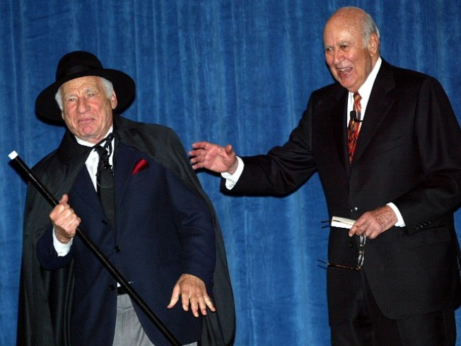 Mel Brooks and Carl Reiner Yuk It Up in Person