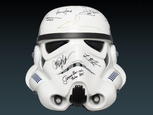Autograph-Laden Stormtrooper Helmet Goes to Auction