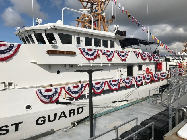 Cost Guard Commissions Ship Named For Slain Petty Officer