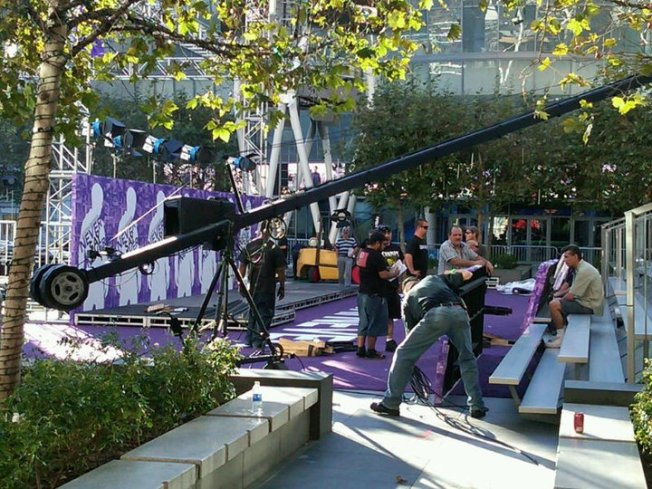 L.A. Live Rolls Out Purple Carpet for Bieber Movie Premiere