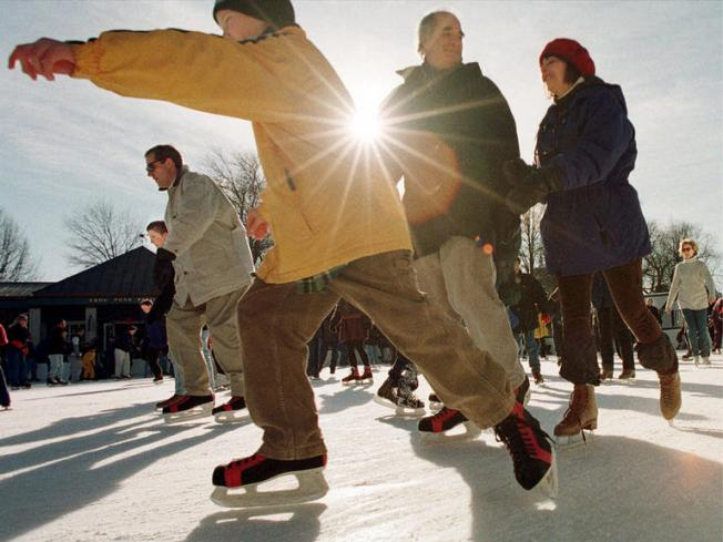Opening Day at Woodland Hills Promenade Ice Skating Rink