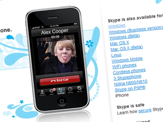 Skype Sticks Tongue Out at AT&T; Launches New iPhone App