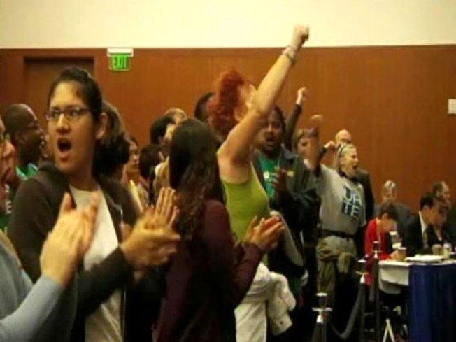Raucous Protesters Shut Down UC Regents Meeting