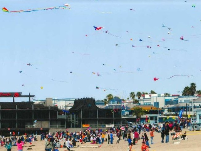 Kites, and Lots of 'Em, Over Redondo Beach