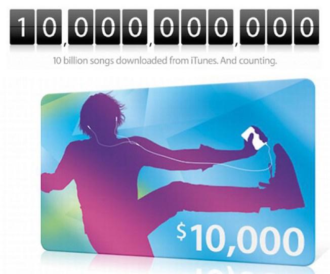 10 Billionth App Downloader Hung Up on Apple