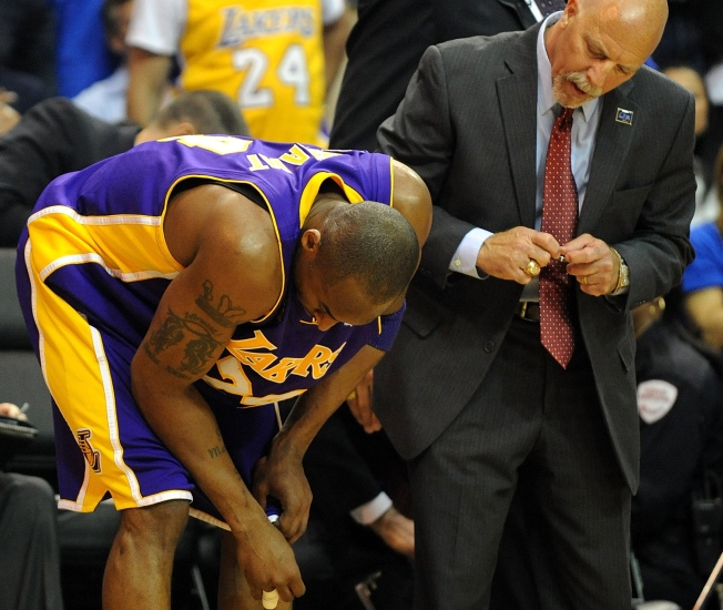 Kobe Fractures Finger