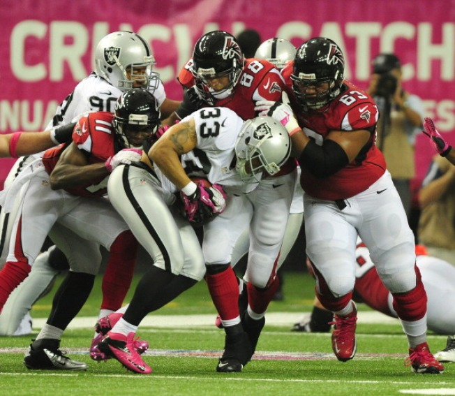 Raiders Fall on Long, Late Field Goal by Falcons