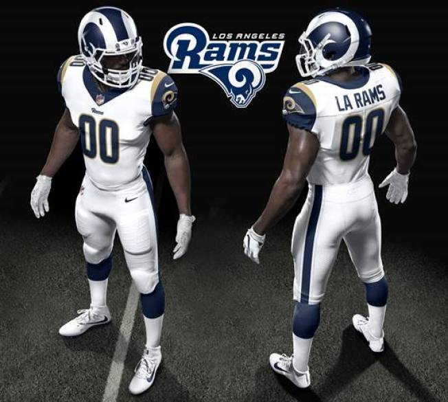 buy popular 5aa47 1a96a Los Angeles Rams Unveil New Uniforms for 2017 Season - NBC ...