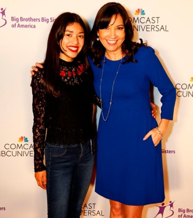 NBC4 Reporter Kim Baldonado Welcomes 'Little Sister' at Comcast NBCUniversal Mentoring Program