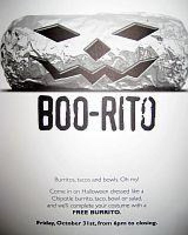 EaterWire: Free Boo-Ritos at Chipotle, Locals Discounts at BLVD 16, Craft's Farmer Dinners, More