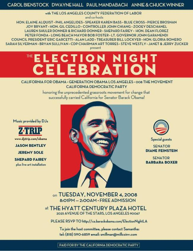 Obama Par-tay at the Hyatt:  Where will Joy Bryant, Zooey...