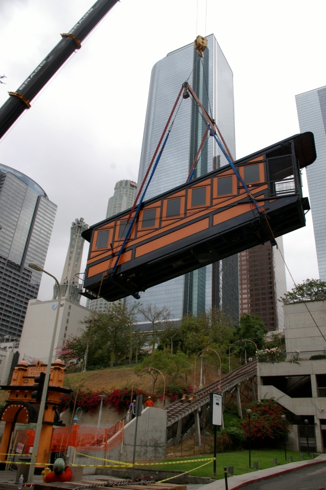 Angels Flight's Rail Cars Back Home