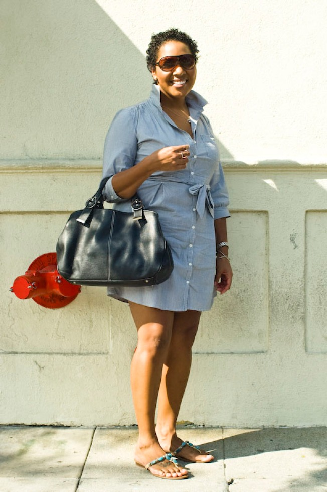 Street Scenes: Christina at Colorado and De Lacey