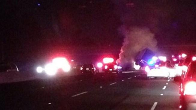 101 Freeway Reopens After Big Rig Crash Near Thousand Oaks