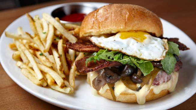 A Breakfast-Topped Burger