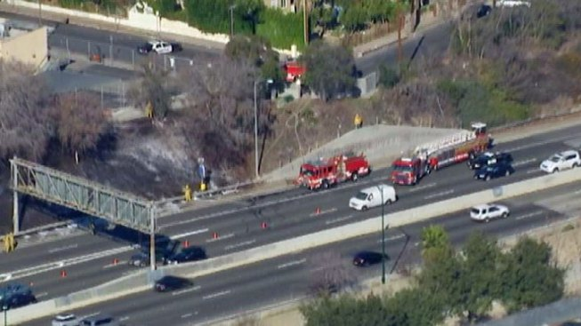 LAFD Puts Out Brush Fire Near Dodger Stadium